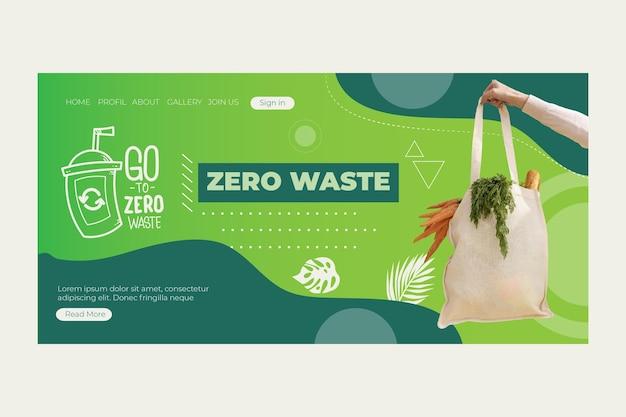 Projekt strony docelowej zero waste