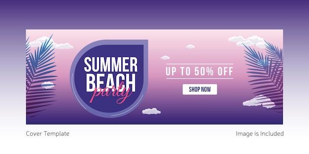 Projekt strony okładki letniej plaży