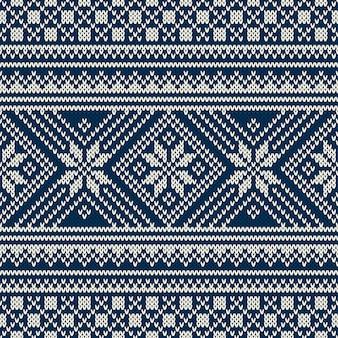 Projekt swetra na zimowe wakacje. wzór z dzianiny