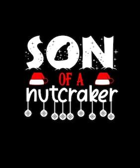 """Projekt świątecznej koszulki """"syn of a nutcracker"""""""