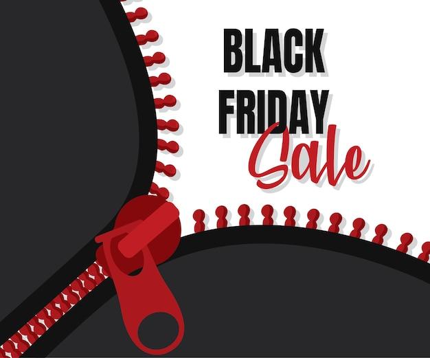 Projekt szablonu banera black friday sale, oferta specjalna wielkiej sprzedaży. baner promocyjny na koniec sezonu.