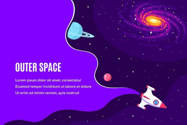 Projekt szablonu banera kosmicznego, nauki, astronomii i astrofizyki