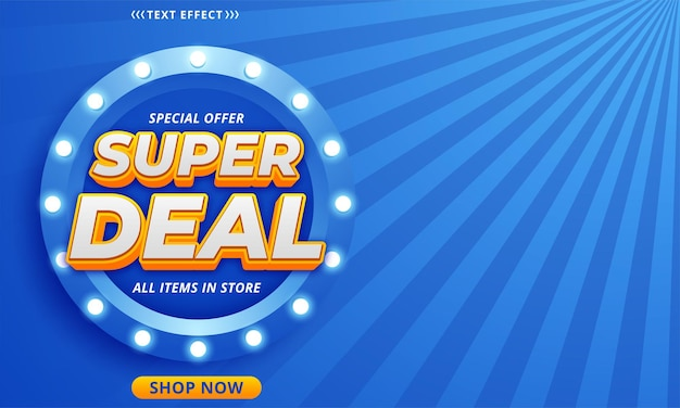 Projekt szablonu banera super deal
