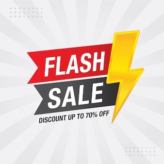 Projekt szablonu baneru flash sale