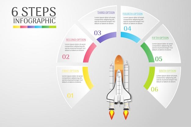 Projekt szablonu biznes plansza element wykresu do prezentacji.