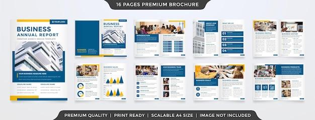 Projekt szablonu broszury a4 w minimalistycznym stylu i nowoczesnej koncepcji