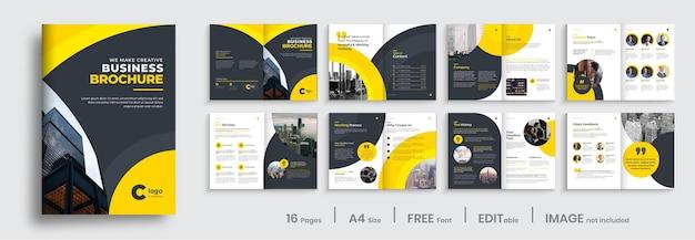 Projekt szablonu broszury biznesowej korporacyjnej, układ broszury wielostronicowej