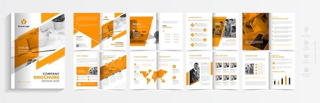 Projekt szablonu broszury korporacyjnej kreatywny układ szablonu broszury biznesowej