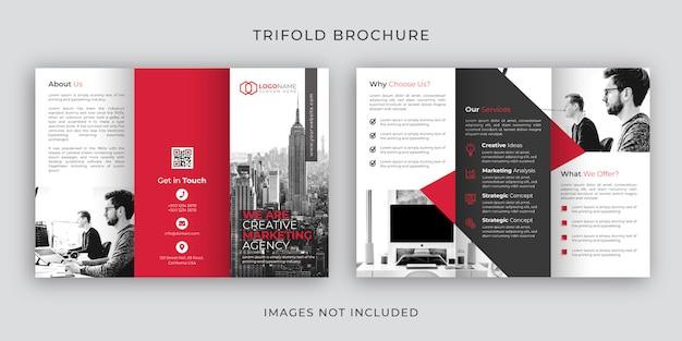 Projekt szablonu broszury korporacyjnej tri-fold