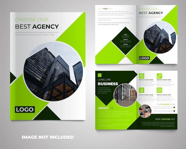 Projekt szablonu broszury streszczenie korporacyjnej bifold