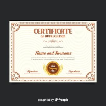 Projekt szablonu certyfikatu kreacji