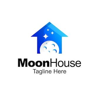 Projekt szablonu gradientu logo księżyca