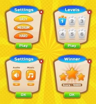 Projekt szablonu gry na poziomie interfejsu użytkownika