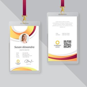 Projekt szablonu identyfikatora wizytówki