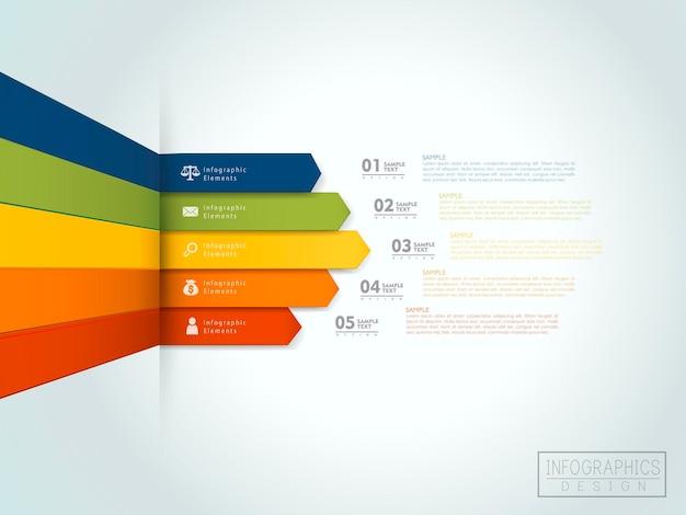 Projekt szablonu infografiki finansowej z elementem statystycznym