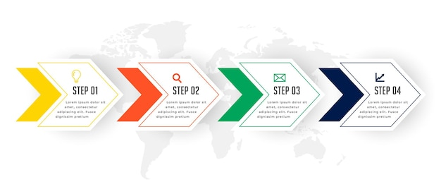 Projekt szablonu infografiki kroki osi czasu biznesu