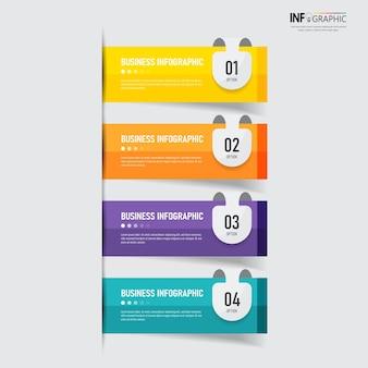 Projekt szablonu infografiki nowoczesny biznes