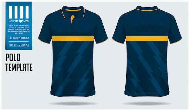 Projekt szablonu koszulki polo.