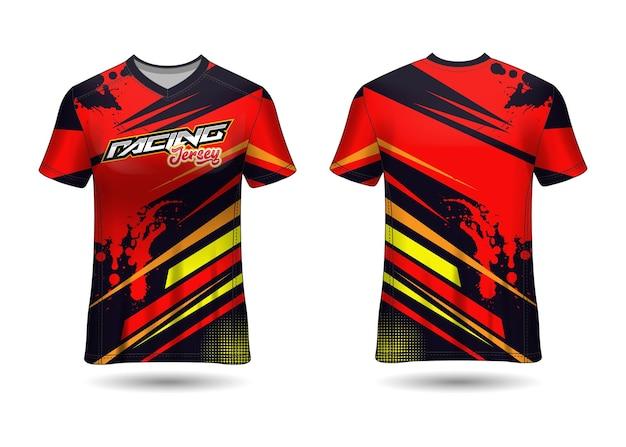 Projekt szablonu koszulki sportowej racing