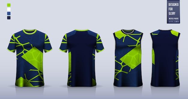 Projekt szablonu koszulki sportowej t-shirt.