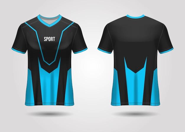 Projekt szablonu koszulki sportowej