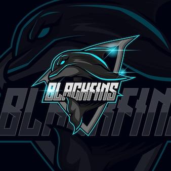 Projekt szablonu logo dolphin esport ilustracja wektorowa
