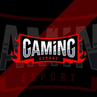 Projekt szablonu logo e-sportu do gier