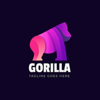 Projekt szablonu logo goryla