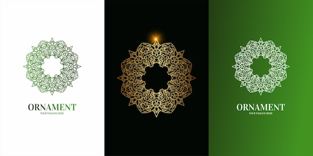 Projekt szablonu logo kwiat lub ornament.