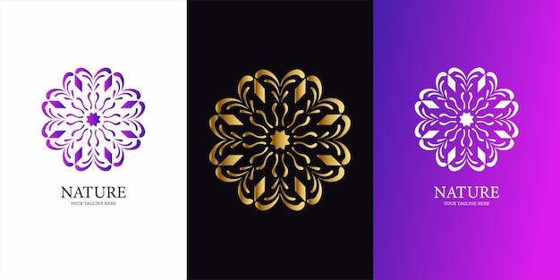 Projekt szablonu logo kwiat, ornament lub mandali. ent projekt szablonu logo.