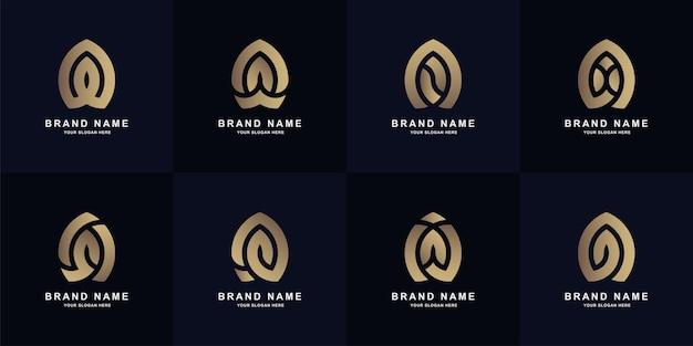 Projekt szablonu logo listu kolekcji a lub monogramu aa