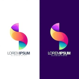 Projekt szablonu logo litery s