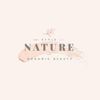Projekt szablonu logo natury