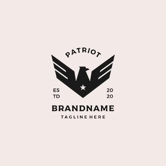 Projekt szablonu logo patriot eagle