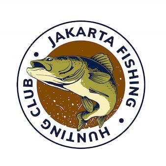 Projekt szablonu logo połowów