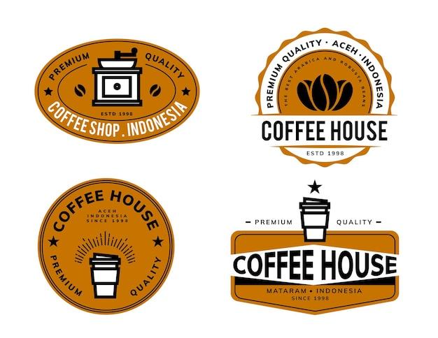 Projekt szablonu logo retro kawy
