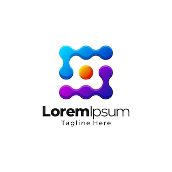 Projekt szablonu logo streszczenie gradientu