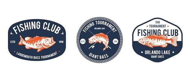 Projekt szablonu logo wędkarstwa
