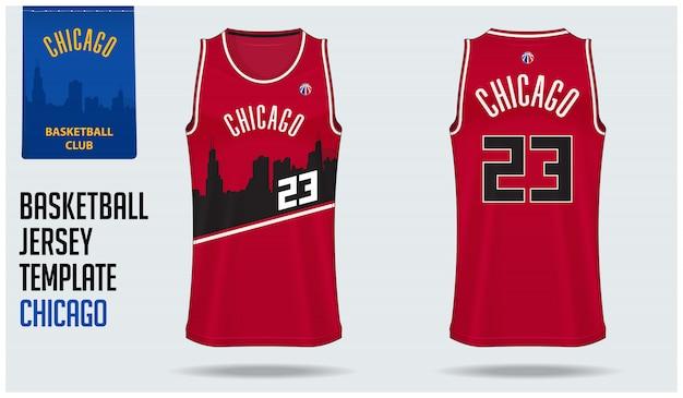 Projekt szablonu makieta koszykówki jersey