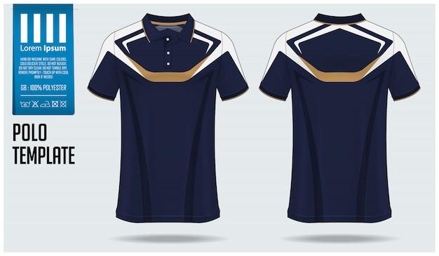 Projekt szablonu makiety koszulki polo.