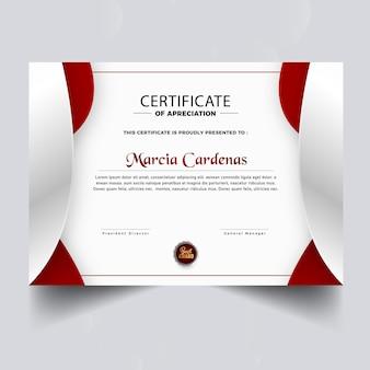 Projekt szablonu nowoczesnego certyfikatu dyplomowego