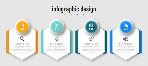 Projekt szablonu nowoczesnej infografiki