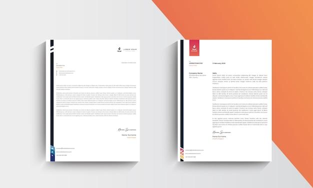 Projekt szablonu nowoczesny papier firmowy. wektor