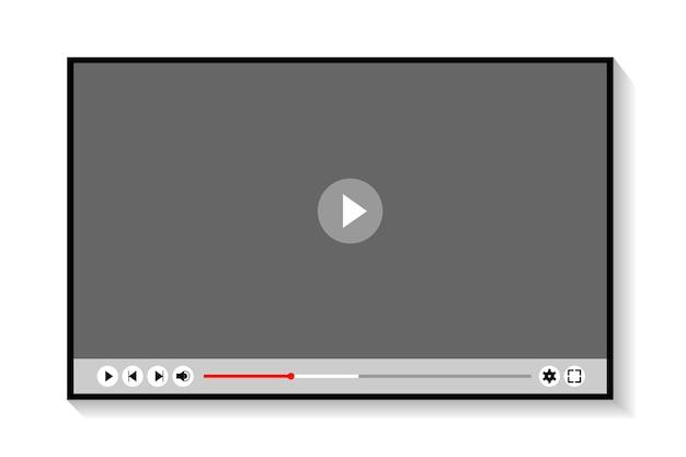 Projekt szablonu odtwarzacza wideo wektor