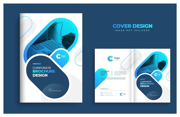 Projekt szablonu okładki broszury projekt okładki profilu firmy