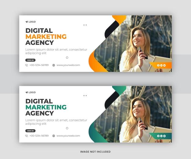 Projekt szablonu okładki na facebooku w marketingu cyfrowym