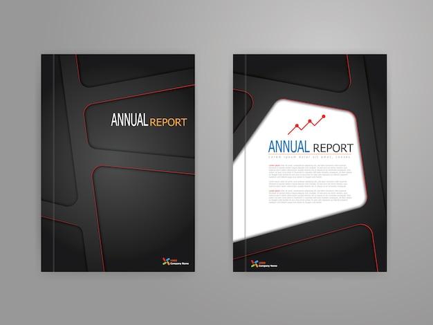 Projekt szablonu okładki raportu rocznego w skali a4