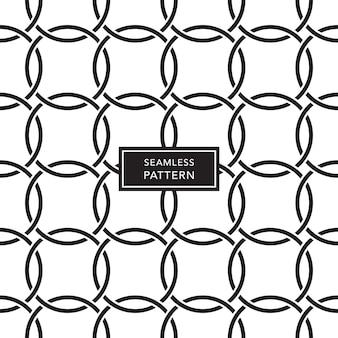 Projekt szablonu okładki z czarno-białym tle połączonych kręgów. bezszwowy wzór geometryczny