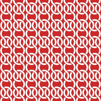 Projekt szablonu okładki z czerwonym i białym wzorem geometrycznym. bezszwowe tło.