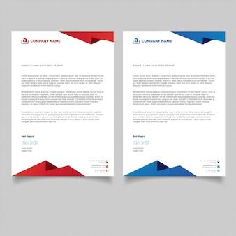 Projekt szablonu papier firmowy